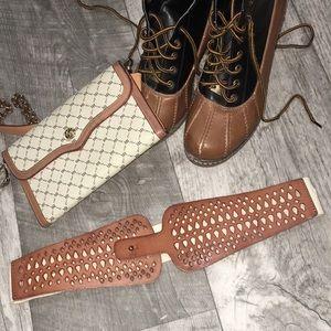 Linea Pelle Leather Elastic Belt